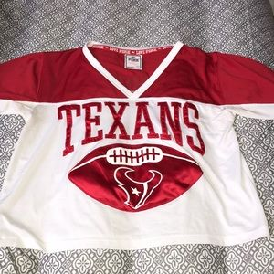 Texans crop top jersey by PINK